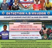 L'AS Meudon organise des journées de détection!!!