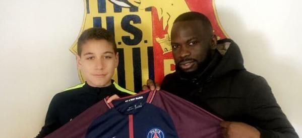 Axel EBOKI (US Ris -Orangis-2004) signe au PSG!